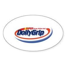 Super Strong DOLLY GRIP! Oval Decal