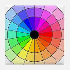 Unique Color wheel Tile Coaster