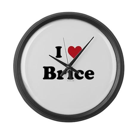 I love Brice Large Wall Clock