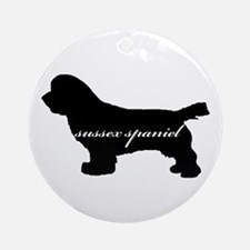 Sussex Spaniel DESIGN Ornament (Round)