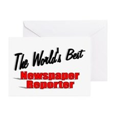 """The World's Best Newspaper Reporter"" Greeting Car"