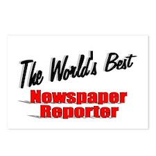 """The World's Best Newspaper Reporter"" Postcards (P"