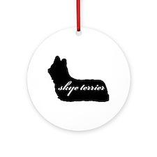 Skye Terrier DESIGN Ornament (Round)