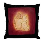 Labrador Dog & Friend II Throw Pillow