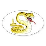 Rattlesnake Snake Tattoo Art Oval Sticker