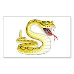 Rattlesnake Snake Tattoo Art Rectangle Sticker