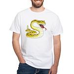 Rattlesnake Snake Tattoo Art (Front) White T-Shirt