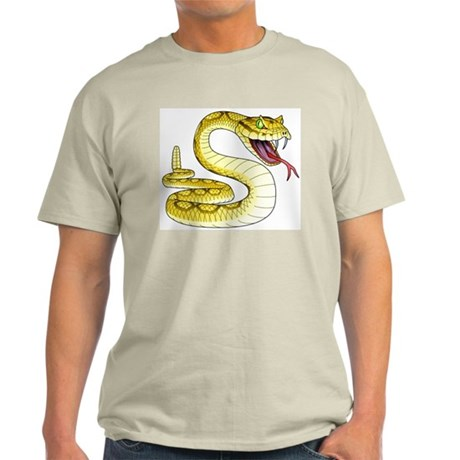 Rattlesnake Snake Tattoo Art (Front) Light T-Shirt