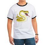 Rattlesnake Snake Tattoo Art (Front) Ringer T