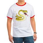 Rattlesnake Snake Tattoo Art Ringer T
