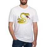 Rattlesnake Snake Tattoo Art Fitted T-Shirt