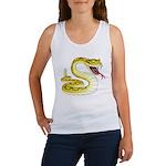Rattlesnake Snake Tattoo Art (Front) Women's Tank
