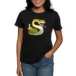 Rattlesnake Snake Tattoo Art (Front) Women's Dark
