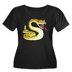 Rattlesnake Snake Tattoo Art (Front) Women's Plus