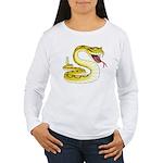Rattlesnake Snake Tattoo Art Women's Long Sleeve T