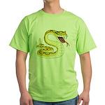 Rattlesnake Snake Tattoo Art Green T-Shirt