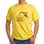 Rattlesnake Snake Tattoo Art Yellow T-Shirt