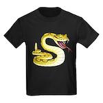 Rattlesnake Snake Tattoo Art (Front) Kids Dark T-S