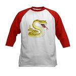 Rattlesnake Snake Tattoo Art (Front) Kids Baseball