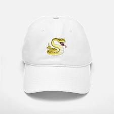 Rattlesnake Snake Tattoo Art Baseball Baseball Cap