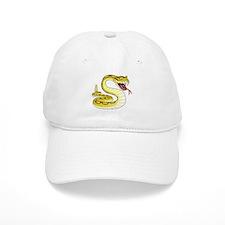 Rattlesnake Snake Tattoo Art Baseball Cap