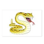 Rattlesnake Snake Tattoo Art Postcards (Package of
