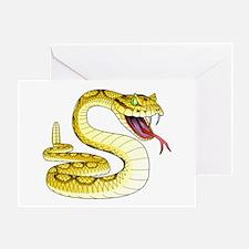 Rattlesnake Snake Tattoo Art Greeting Card