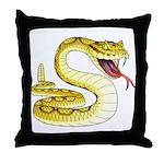 Rattlesnake Snake Tattoo Art Throw Pillow
