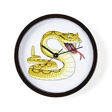 Rattlesnake Snake Tattoo Art Wall Clock