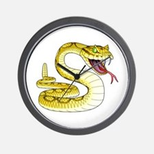 Rattlesnake Snake Tattoo Art Wall Clock