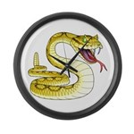 Rattlesnake Snake Tattoo Art Large Wall Clock
