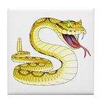 Rattlesnake Snake Tattoo Art Tile Coaster