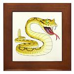 Rattlesnake Snake Tattoo Art Framed Tile