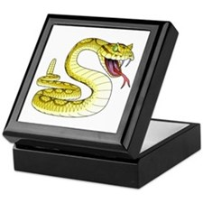 Rattlesnake Snake Tattoo Art Keepsake Box