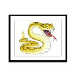 Rattlesnake Snake Tattoo Art Framed Panel Print