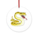 Rattlesnake Snake Tattoo Art Ornament (Round)