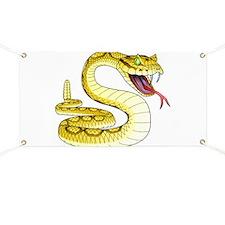 Rattlesnake Snake Tattoo Art Banner