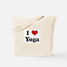 I Love Yoga Tote Bag
