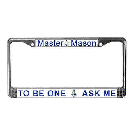 Masonic 2B1ASK ME License Plate Frame