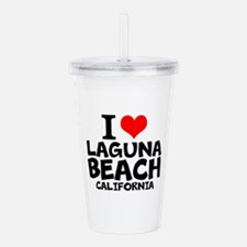 I Love Laguna Beach, California Acrylic Double-wal