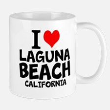 I Love Laguna Beach, California Mugs