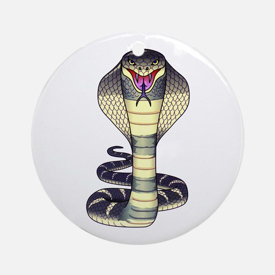Cobra Snake Serpent Tattoo Ornament (Round)