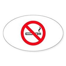 No Smoking Oval Decal