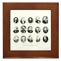 Freemason Presidents Framed Tile