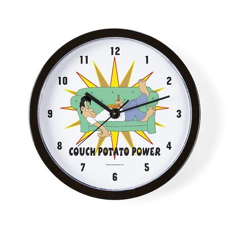 Couch Potato Power Wall Clock