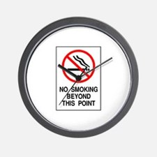 No Smoking Beyond This Point Wall Clock