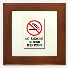 No Smoking Beyond This Point Framed Tile