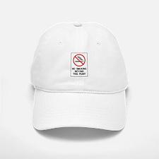 No Smoking Beyond This Point Baseball Baseball Cap