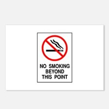 No Smoking Beyond This Point Postcards (Package of
