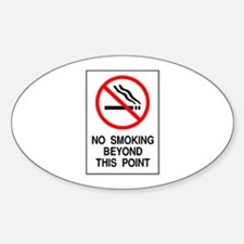 No Smoking Beyond This Point Oval Decal